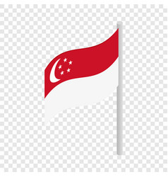 Singapore flag isometric icon vector