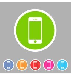 Smartphone phone icon flat web sign symbol logo vector