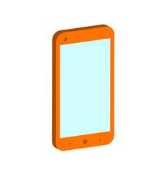 Smartphone symbol flat isometric icon or logo 3d vector