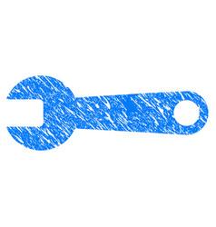 Spanner grunge icon vector