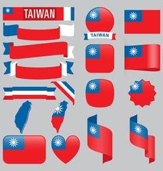 Taiwan flags vector image