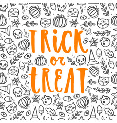 Trick or treat halloween poster vector