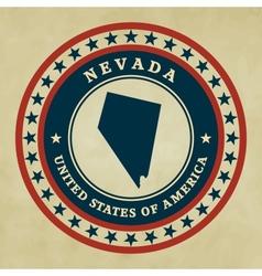 Vintage label Nevada vector image vector image