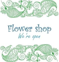 Vintage signage for flower shop vector