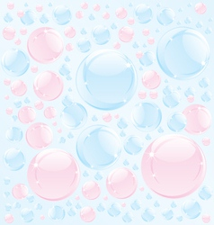 Abstract bubble soap vector image