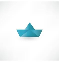 Paper boat symbol vector