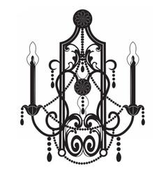 Rich baroque classic chandelier vector