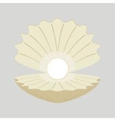 Beautiful natural open pearl vector image