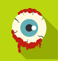 Zombie eyeball icon flat style vector