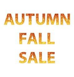 Autumn sale inscription vector image