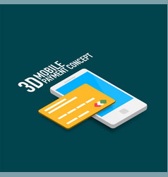 Mobile internet payment concept with smart vector