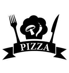 Isolated icon - pizza symbol vector