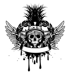 Skull in helmet vector