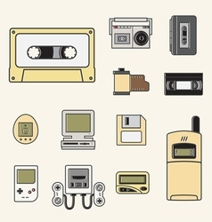Gadget of 90s icon vector