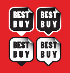 Best buy stickers vector image