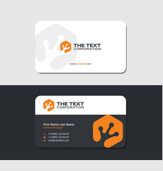 Business card with orange salamander trace vector