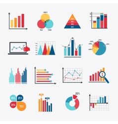 Business Chart Icons Set Flat vector image vector image