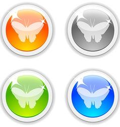 Butterfly buttons vector