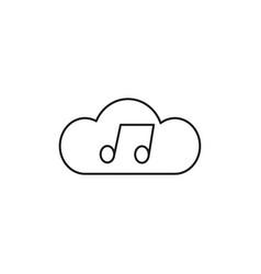Cloud music icon vector