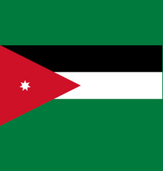 Colored flag of jordan vector