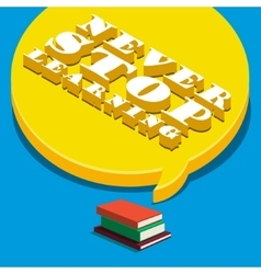 Concept of learning Books with speech bubble vector image