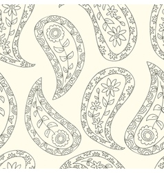 Contour seamless ethnic pattern vector image vector image