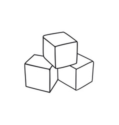 Cubes childrens toy vector