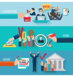 Election banners set vector