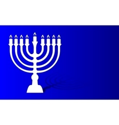 Festival of lights menorah background vector image