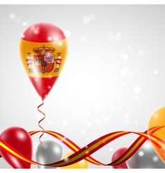 Flag of Spain on balloon vector image vector image