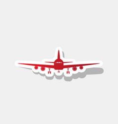 flying plane sign front view new year vector image vector image