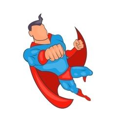 Flying superhero cartoon style vector