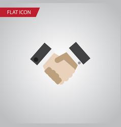 isolated handshake flat icon partnership vector image