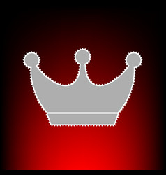King crown sign postage stamp or old photo style vector