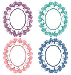 Lace frames isolated on white vector