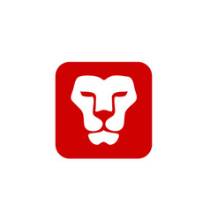Lion head with square vector