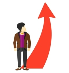 Man with arrow going up vector image