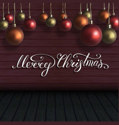 merry christmas lettering with redorangegold vector image vector image