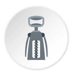 Metal corkscrew icon circle vector