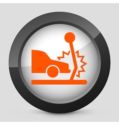 orange and gray elegant glossy icon vector image vector image