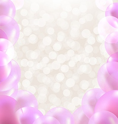 Pink balloons border vector