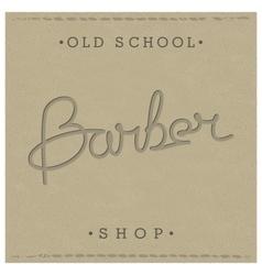 Retro template for barber shop vector