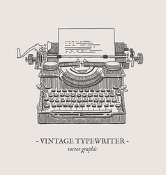Retro typewriter vintage vector