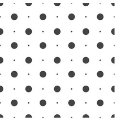 Seamless dots pattern seamless on white background vector