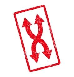 Shuffle arrows vertical icon rubber stamp vector