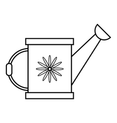 Watering can icon outline style vector image