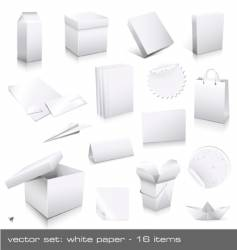 white paper vector image