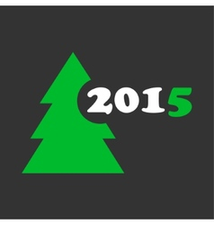 Wishes for christmas and new year - stylized tree vector