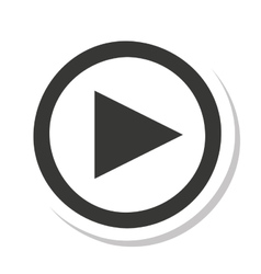 Media player button play icon vector