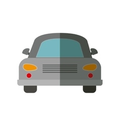 Front view gray automobile icon vector